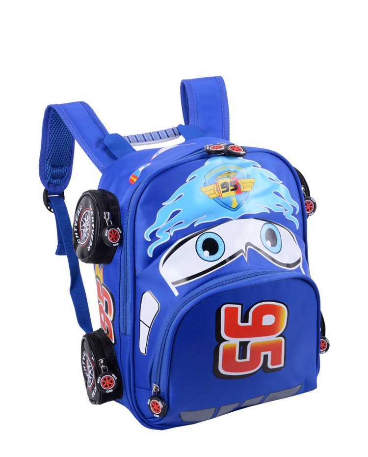2018 New Cartoon 95 Car Boy Girl Baby Kindergarten Nursery School bag Bagpack Teenager Schoolbags Canvas Kids Student Backpacks 53