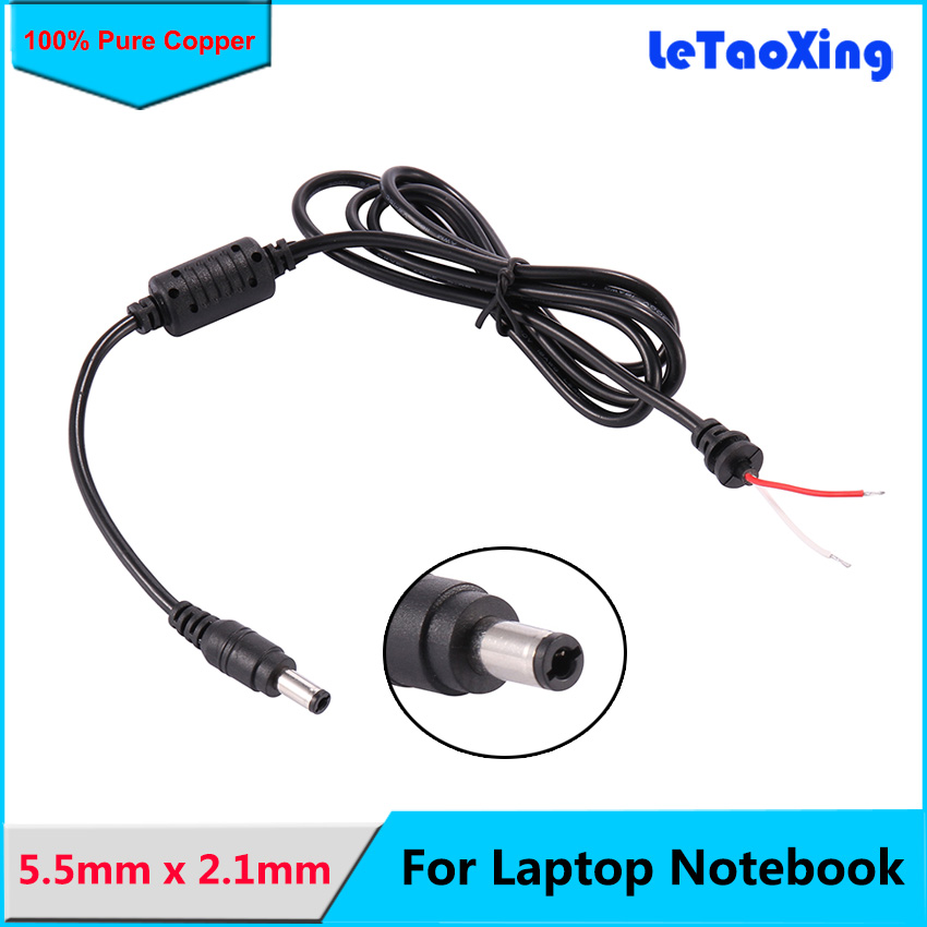 1pc 1M//3.3FT DC Power Right Angle 5.5x2.1mm Male To Female Extension Cabble