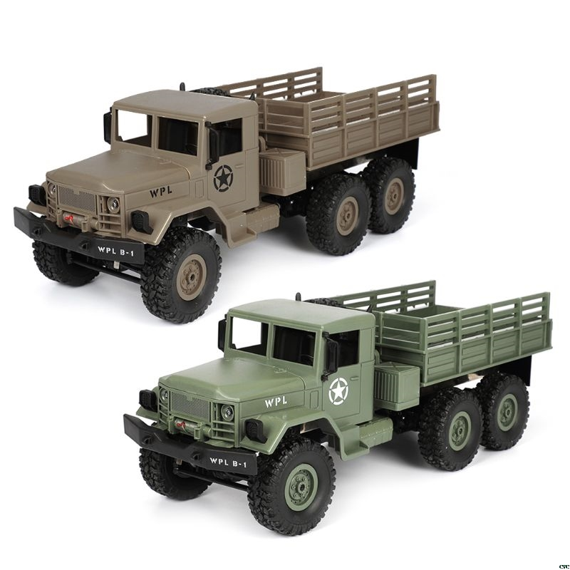 2018 NEW WPL B16 RC Military Truck Kits 4WD 1 16 Off road Crawler Car Toy