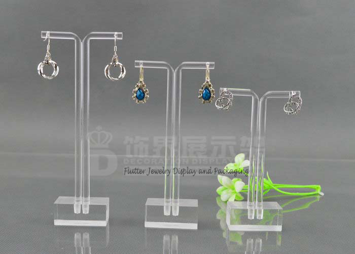 3sets Lot Clear Acrylic T Earring Display Stand Hanging Rack Jewelry Showcase Stud Holder Organizer 3pcs Set In Packaging