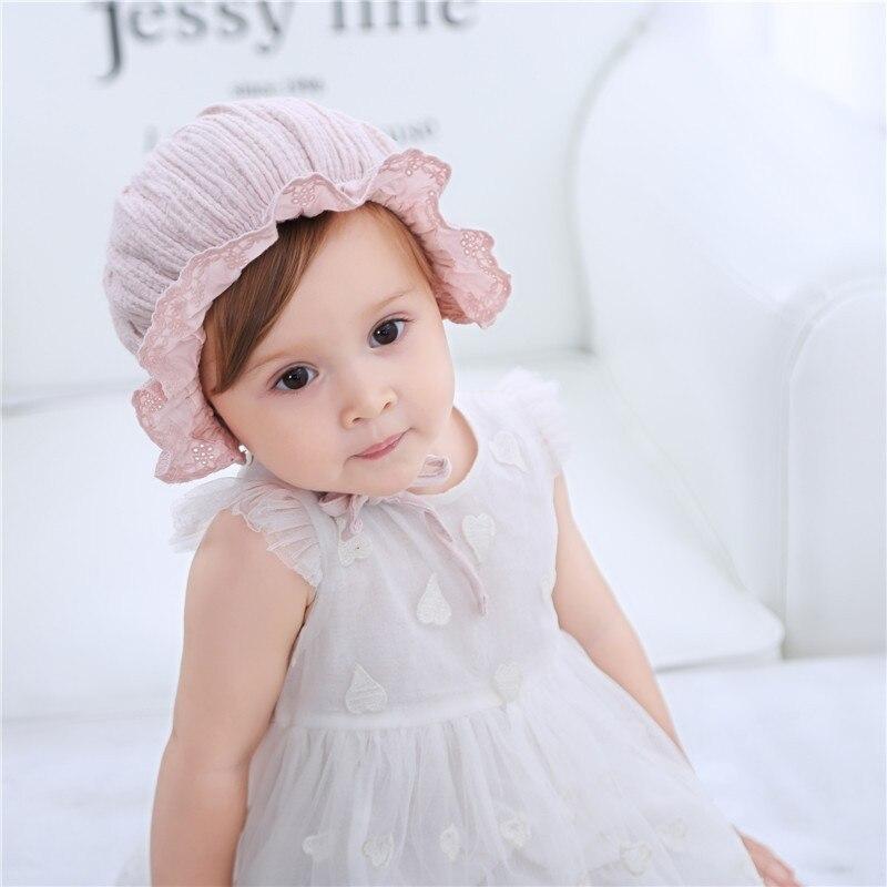 Nieuwe lente en zomer cap kinderen baby katoen prinses hoed - Babykleding - Foto 4