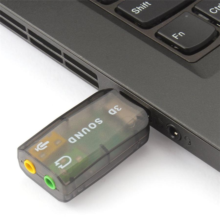 External Sound Card 3.5mm USB Adapter Audio Interface 3D USB Headset Interface Microphone Headphone For Computer USB Audio Card