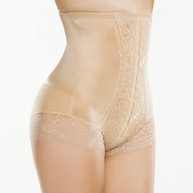 Cordón de la alta cintura que adelgaza faja tummy trimmer de levantamiento de glúteos bragas flacas delgadas fajas de control de estómago