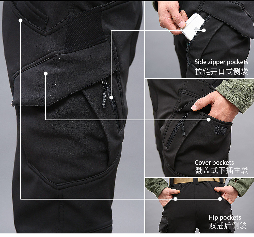 Winter Army Military Tactical Softshell Pant Men Heat Reflective Waterproof Windproof Warm Work Fishing Hunting Cargo Trousers