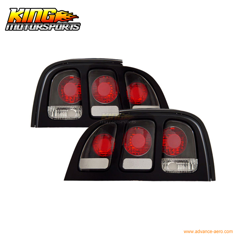 For 94 98 Ford Mustang Tail Lights Black 1995 1996 1997 USA Domestic Free Shipping