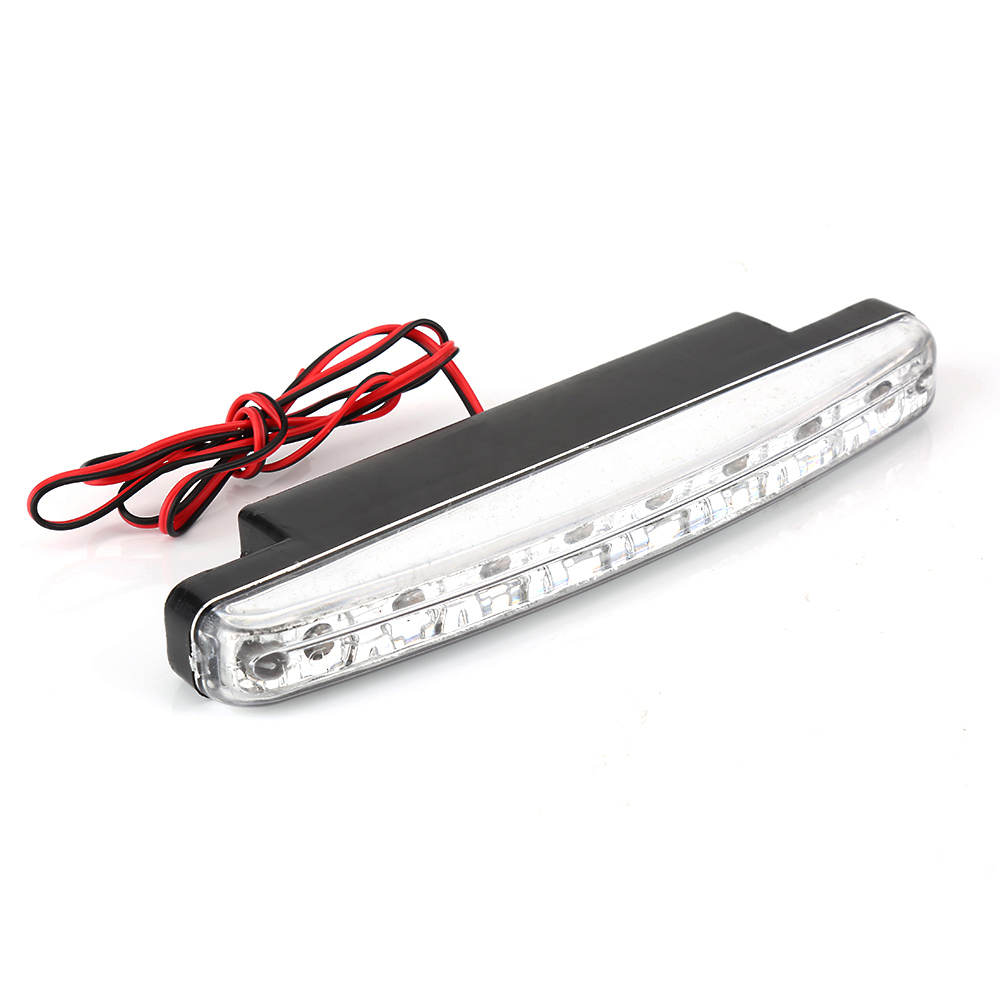 8LED Daytime Driving Running Light DRL Car Fog Lamp Waterproof White DC 12V Front Fog DRL Head Lamp car styling 1 pair metal shell eagle eye hawkeye 6 led car white drl daytime running light driving fog daylight day safety lamp waterproof