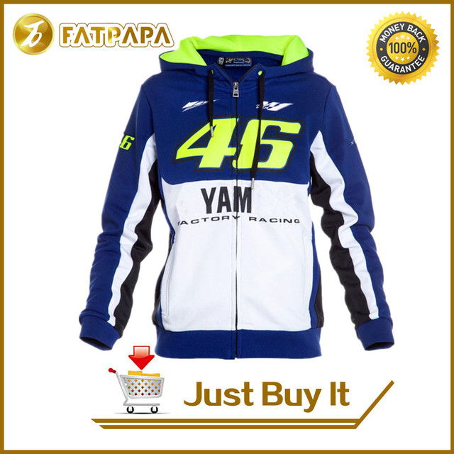 Free shipping 2016 gp Valentino Rossi VR46 M1 Factory Racing Team Moto GP fit for Yamaha Adult Hoodie Sports Sweatshirt Jackets