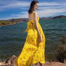 600796eecb248 Long Yellow Chiffon Dress Promotion-Shop for Promotional Long Yellow ...