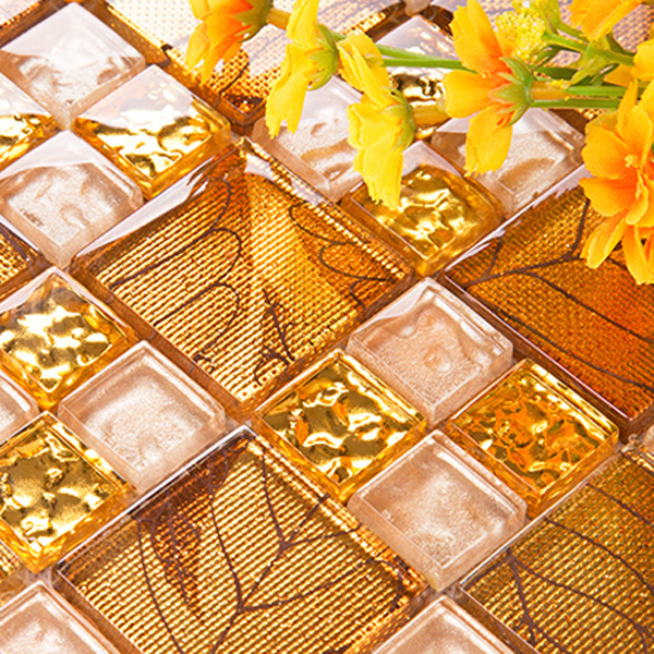 Orange And Yellow Kitchen Walls online shop orange yellow glass building material mosaic wall tile
