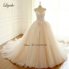 Liyuke Somple Elegant A-Line Wedding Dress Court Train