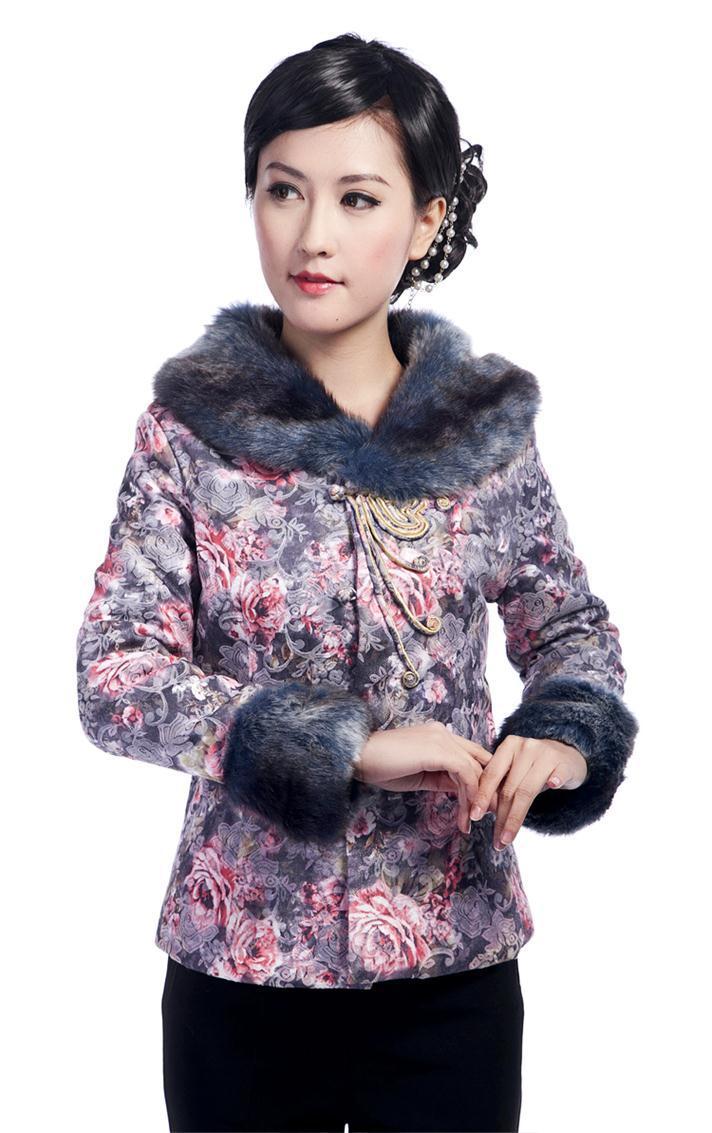 Gris moda clothing señoras chaqueta de invierno wadded la chaqueta de las mujere