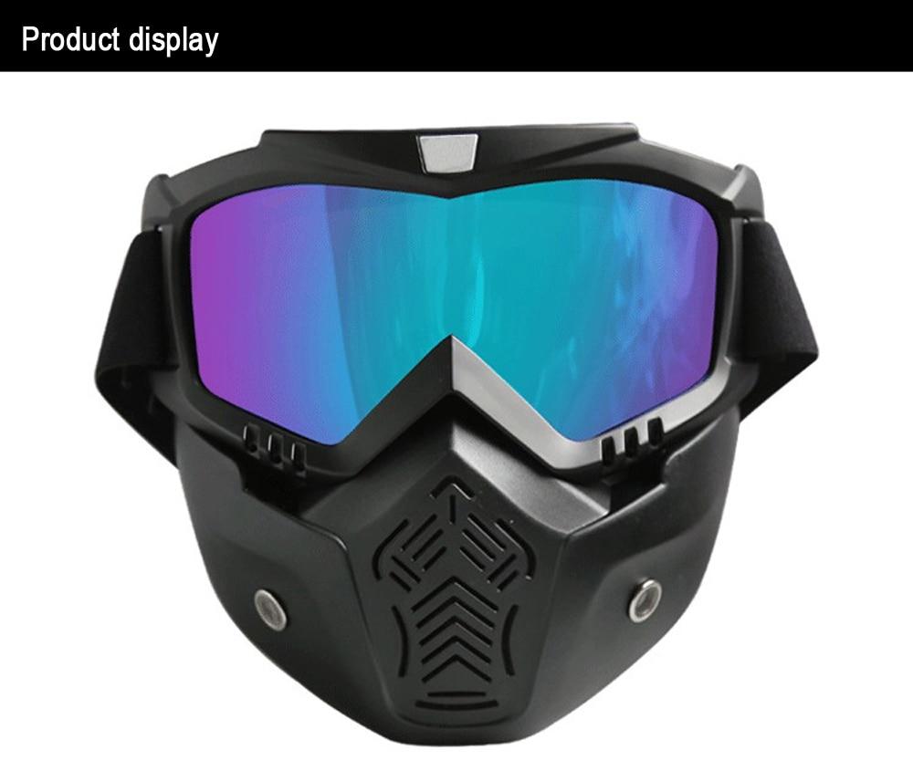 f52ffb305cdc3 Prevenção de esqui óculos de Proteção Óculos de Areia À Prova de Vento máscara  de Equitação Motocross Goggles Máscara Big Ciclismo Óculos Homens Mulheres  ...