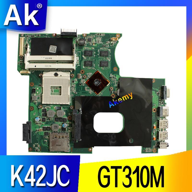 AK K42JC Laptop Motherboard For ASUS K42JC K42J A42J K42J X42j A40J K42 Test Original Mainboard GT310M
