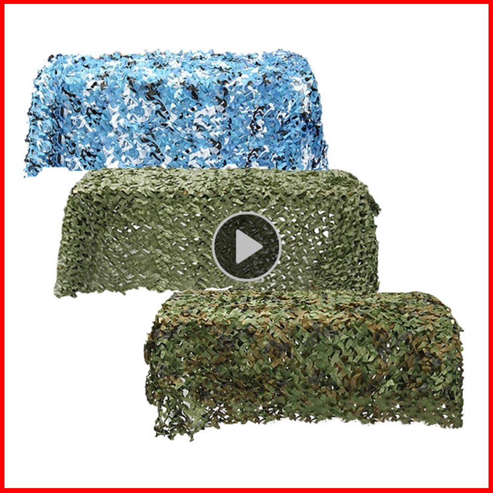5x4m 4x4m Military Camouflage Net Hunting Netting Military Net Car Army Net Mesh Cover Tent Hunting Sun Shelter Camping Awning