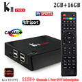 Melhor Caixa de IPTV HD 1 Ano 1150 + Plus Francês Árabe Canais Europa HD KII Pro Caixa de TV Android 2 gb + 16 gb Wifi Amlogic S905 PK MAG 250