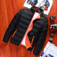 Winter Jacket Men 2017 Fashion Stand Collar Male Parka Jacket Mens Solid Thick Jackets and Coats Man Winter Parkas Plus Size 4XL
