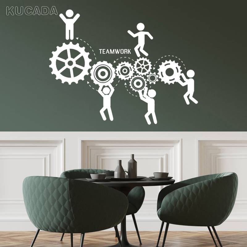 Meeting Room Office Teamwork Vinyl Wall Decal Quote Motivation Worker Stickers Unique Gift Art Decoration Design Mural Jg4046 Wall Stickers Aliexpress