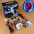 2015 Motorcycle Headlight 2.3 Inch Hid Bi xenon Lens Projector Xenon Headlamp Light Full Kit Angel Eye Halo Devil Demon Eyes