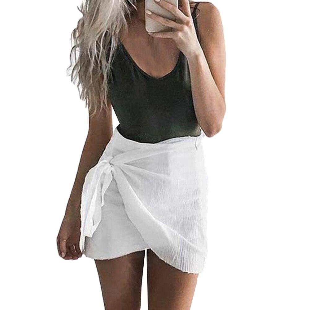 HTB1QUnGRFXXXXXWapXXq6xXFXXXv - 2017 Fashion Women's Ladies Skirt Summer Beach Strap Irregular Casual Sundress Hip Skirt PTC 281