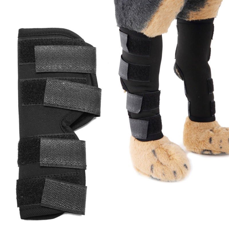 New Pet Knee Pads Dog Support Brace for Hind Leg Hock Joint Wrap Breathable Injury Recover Legs Dog Protector Support