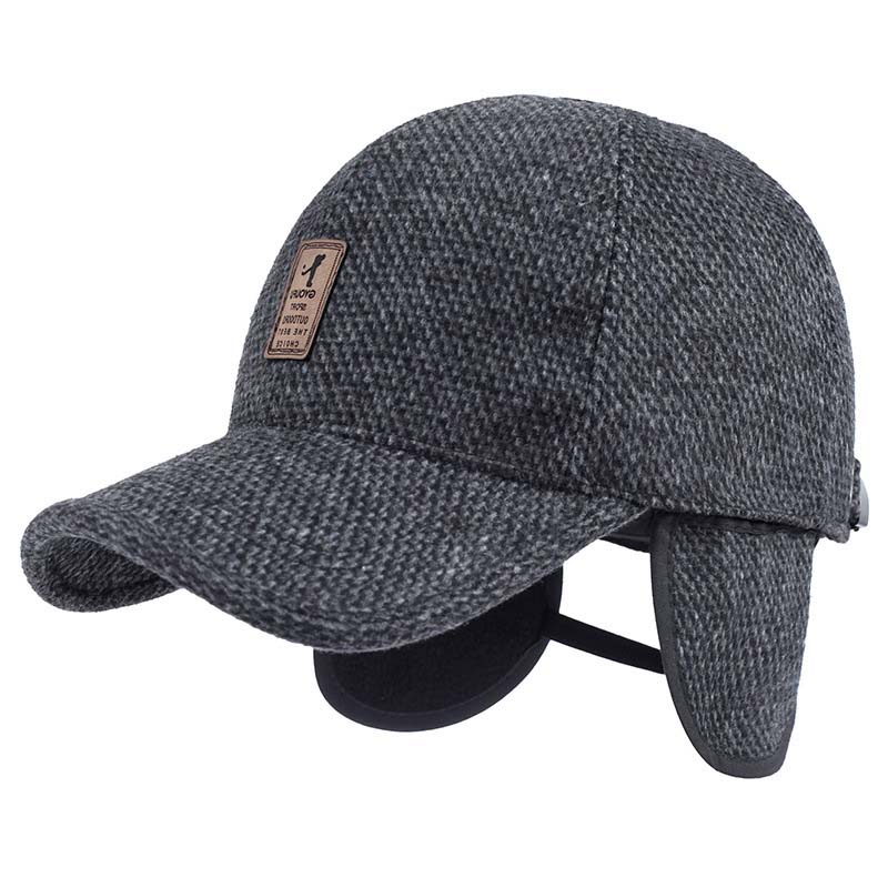 Glaedwine 2018 Warm Winter spring Thickened Baseball Cap With Ears Men S  Cotton Hat Snapback Hats Ear Flaps For Men Hat dad hat 4e6b424ff33c