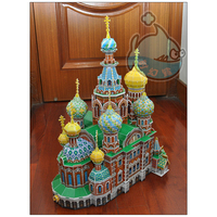 Free Shipping 3D Wood Puzzle DIY Model Kids Toy World Famous Landmarks Castles And Churches Puzzle