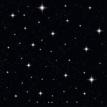 Céu da estrela Da Noite Preto Escuro Parede Fundos Vinil pano backdrop Computador impresso foto da festa de Alta qualidade