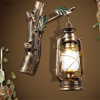 Vintage Wall Lamp Retro Iron Wall Light Loft Indoor Lighting Bedside Fixtures Industrial Style Home Lighting For Reading Room