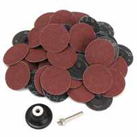 50 Pcs 80Grit 2 Roll Lock SANDING DISCS Type R Roloc Fits Abrasive For Cleaning And