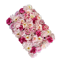 Decorative Wall Hanging Floral Flower Panels Fake Fabric Rose Flower Colored