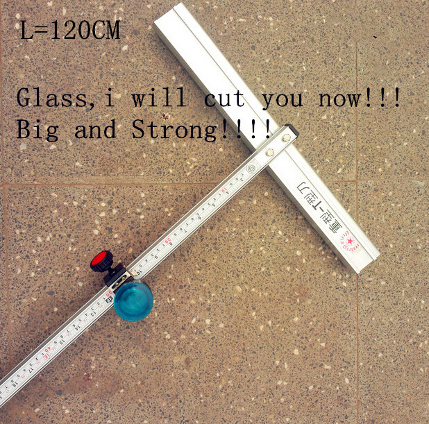120cm Length T Type Aluminum Alloy Glass Cutter Tool freeshipping