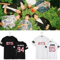 2017 Top Real Regular Letter Casual Unicorn Tops Bangtan Boys Tshirt Bts In Bloom Rap Monster T-shirts Suga V Tee Beanie