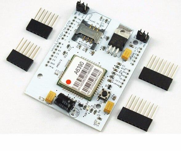 Livraison rapide quadri-bande GSM/GPRS pour bouclier Arduino, pour pcDuino, pour plaque de protection ATWIN AT139