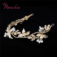 Gorgeous Crystal Rhinestone hairpiece handmade Hair ornaments bridal jewelry wedding party accessories for women RE720
