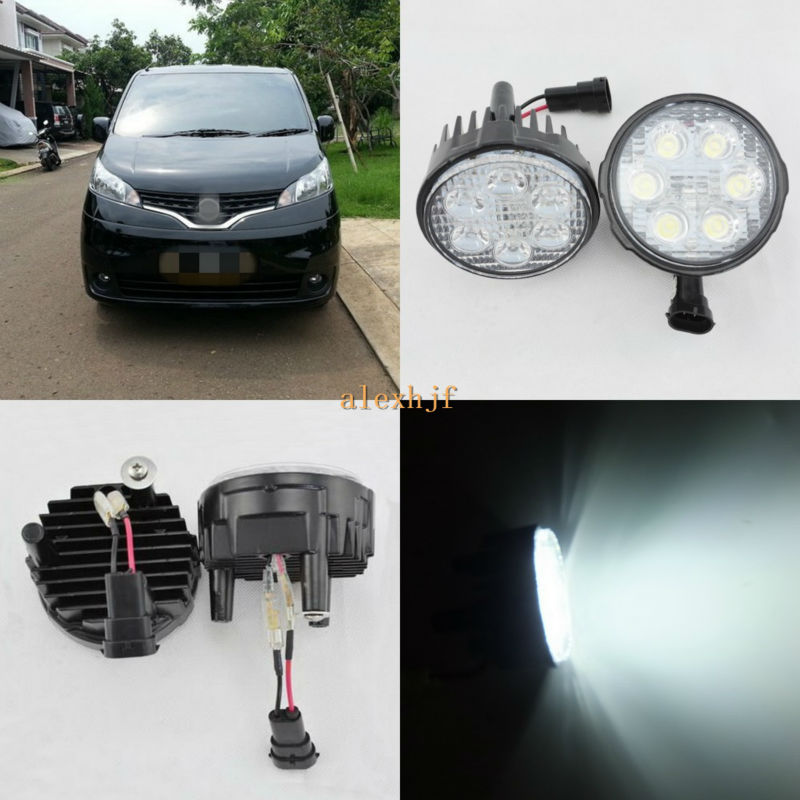 July King 18W 6LEDs H11 LED Fog Lamp Assembly Case for Nissan Evalia 2006~ON Indonesia, 6500K 1260LM LED Daytime Running Lights july king 18w 6leds h11 led fog lamp assembly case for nissan versa 2012 on 6500k 1260lm led daytime running lights
