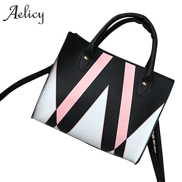 5322992876ab Aelicy Luxury High Quality PU Leather Bag Female New Arrival Woman Designer  Bags Patchwork Casual Tote