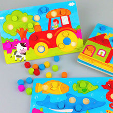 Free delivery children early education toys hand grasp plate, kids cognitive matching color board