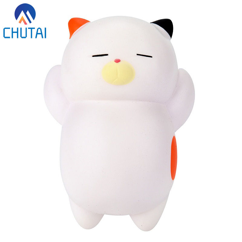 Jumbo Cute Kawaii Lazy Sleeping Cat Kids Toy Scented Squishy Charm Slow Rising Squishies Toy Charm Antistress Toy 12x8.5 CM