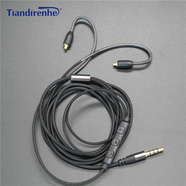 Upgrade MMCX Cable for Shure SE215 SE425 SE535 SE846 Earphone Headset Line Headphone Wire for iPhone 6 6s xiaomi Android IOS