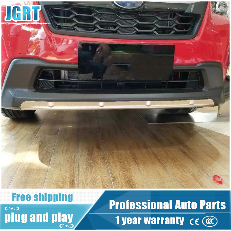 car styling for subaru XV 2018 Stainless steel Front and rear BUMPER cover TRIM 26pcs stainless steel outer front bumper