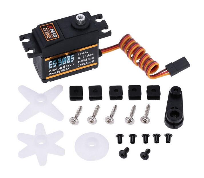 4set lot EMAX ES3005 Analog Metal Waterproof Servo with Gears 43g servo 13KG torque for font