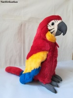 about 26cm colourful red parrot plush toy soft doll birthday gift s0277