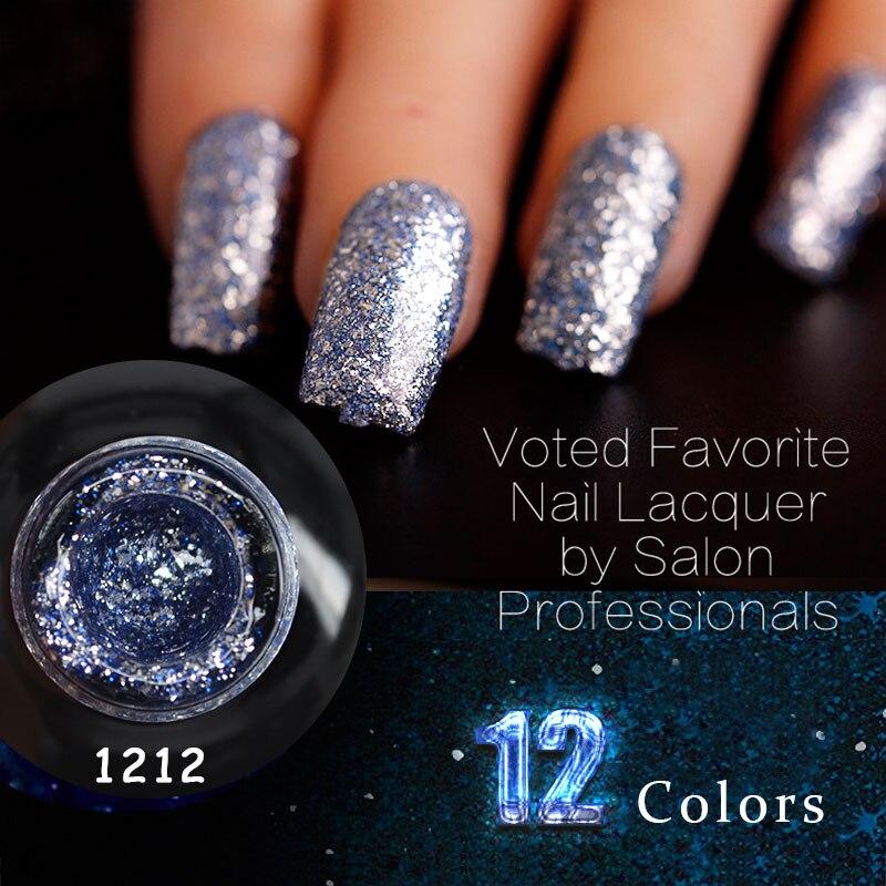 New supply nail art 12ml diamond shining glitter sequins paint gel