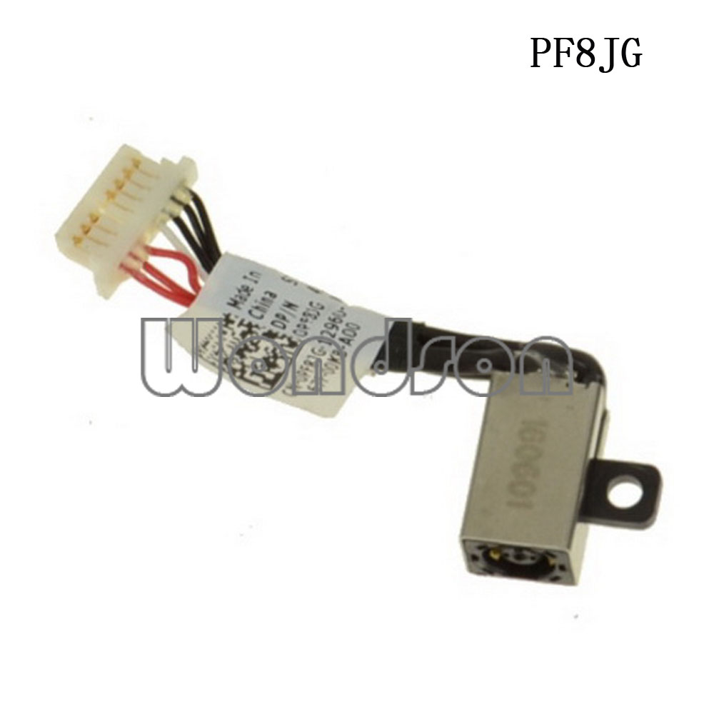 New DC Cable For Dell Inspiron 15 5568 7569 7579 / 13 5368 5378 DC Jack Cable - PF8JG 0PF8JG 450.07R03.000  W/ 1 Year Warranty