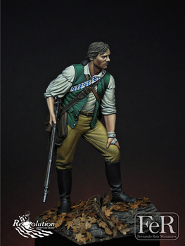 1/24  Resin kit Figure GK The Minuteman Lexington 1775 Historical and humanistic themes Uncoated No colour