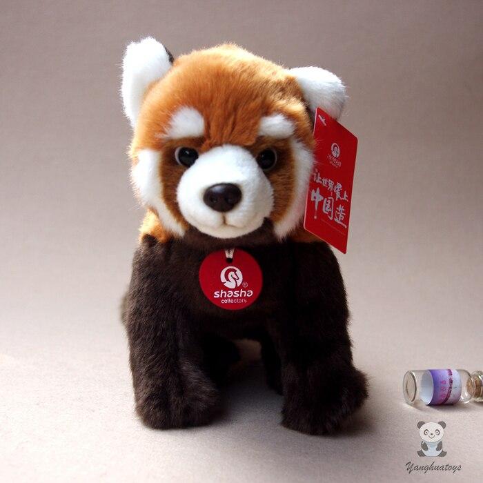 Enfants Jouets En Peluche Panda Poupée Mignon Rouge Panda Réel Vie Animal Raton Laveur Poupées Vacances Cadeaux