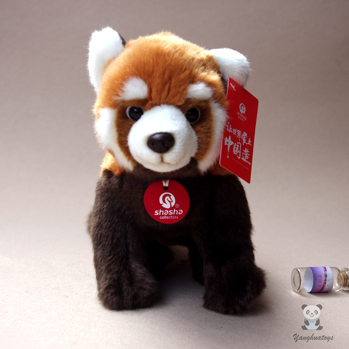 Kids Toys Plush Panda Doll Cute Red Panda Simulation Animal Raccoon Dolls Holiday Gifts 1pc 16cm mini kawaii animal plush toy cute rabbit owl raccoon panda chicken dolls with foam partical kids gift wedding dolls