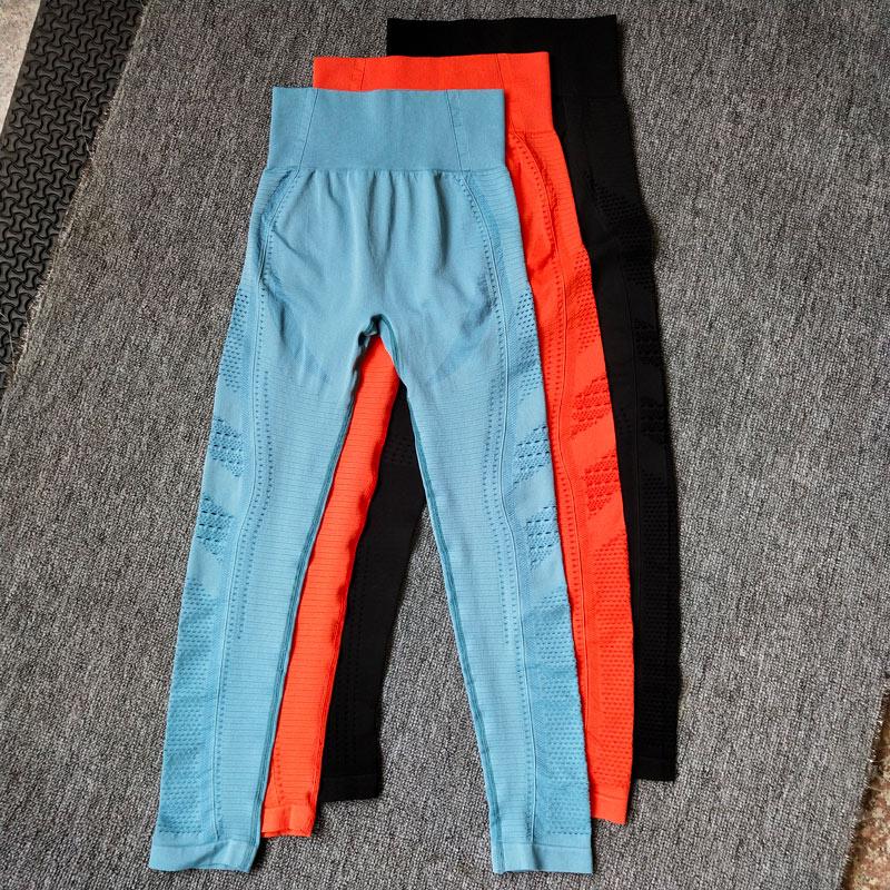 New-Women-Eyelet-Knit-Seamless-Yoga-Leggings-High-Waisted-Tummy-Control-Gym-Leggings-Sports-Pants-Fitness (3)