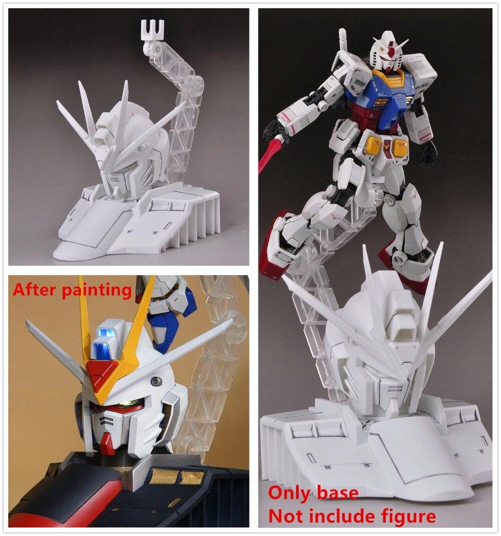 Universal yellow display New Zeon stand base for 1//100 MG Gundam models