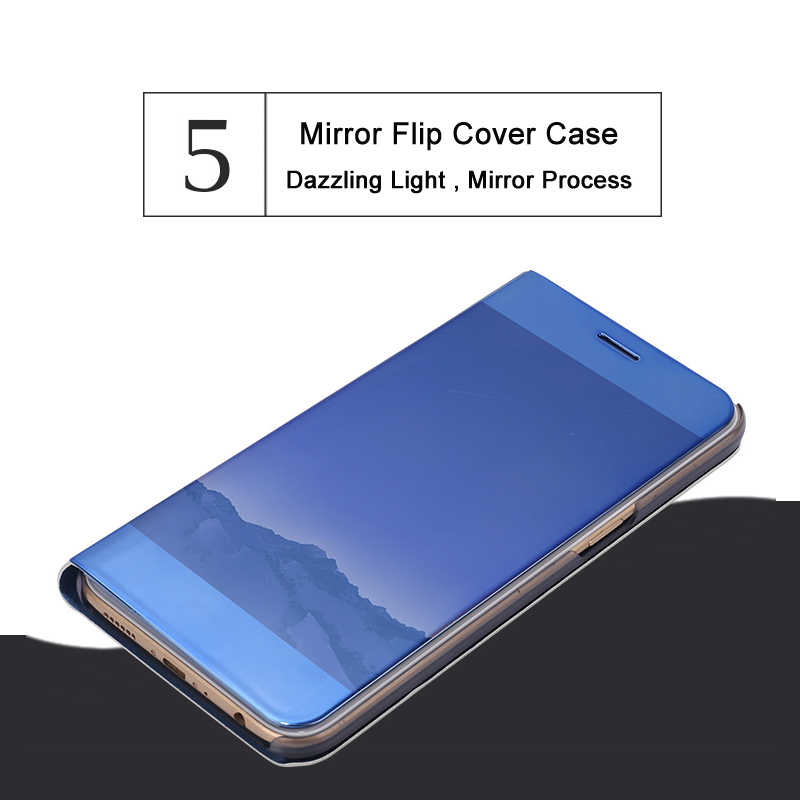 official photos ccf25 67396 Smart Mirror View Phone Cases For Oppo F5 F7 R15 R11 Plus For Vivo V9 X20  X21 X20 Plus Y85 Window Stand PU Leather Phone Cover